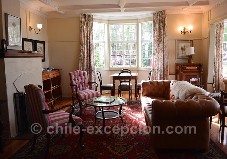 Petit salon de l'estancia Cerro Guido, Torres del Paine