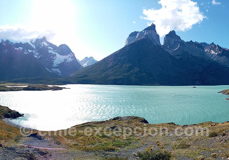 Lac Nordenskjöld, sur la randonnée Mirador Cuernos, Chili