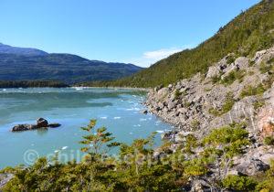 Débarquement pour voir le glacier Serrano