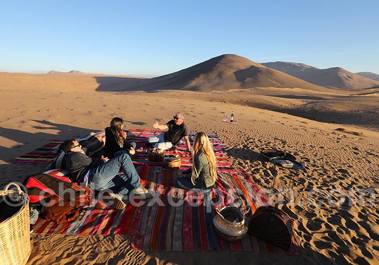Apéritif dans les dunes, Norte Chico au Chili