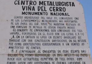 Informations sur le centre incaique Villa del Cerro, Copiapo