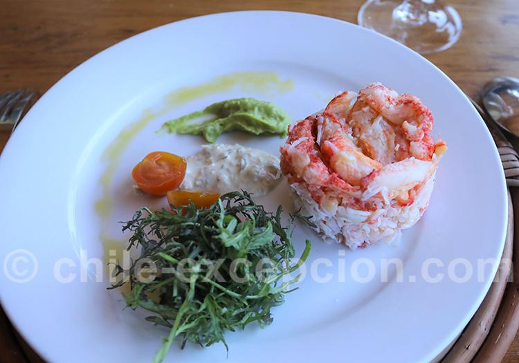 Timbale de jaiba ou cangrejo (crabe)