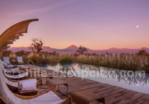 Au Tierra Atacama après le coucher de soleil