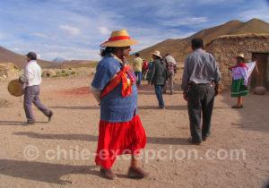 Tenue traditionnelle des aymaras