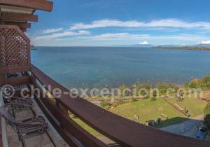 Hôtel Cumbres, vue sur le lac Llanquihue