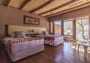 Hôtel Atacama, chambre twin