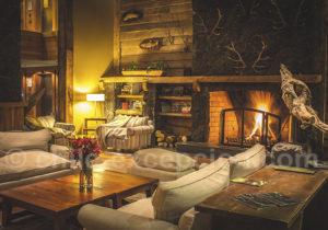 Au coin du feu à l hôtel Cumbres Patagonia