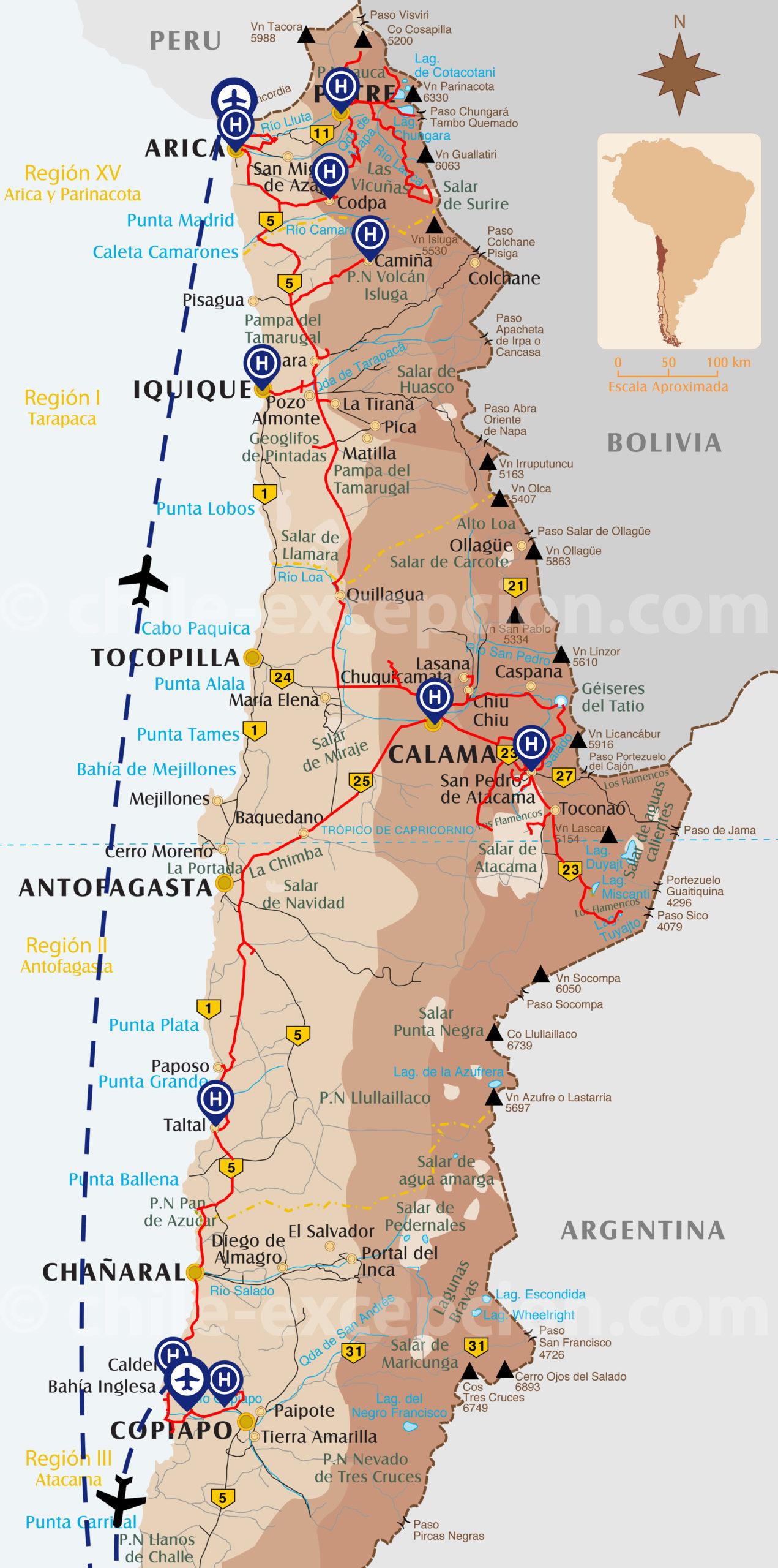 Itinéraire traversée nord sud Désert d'Atacama 19