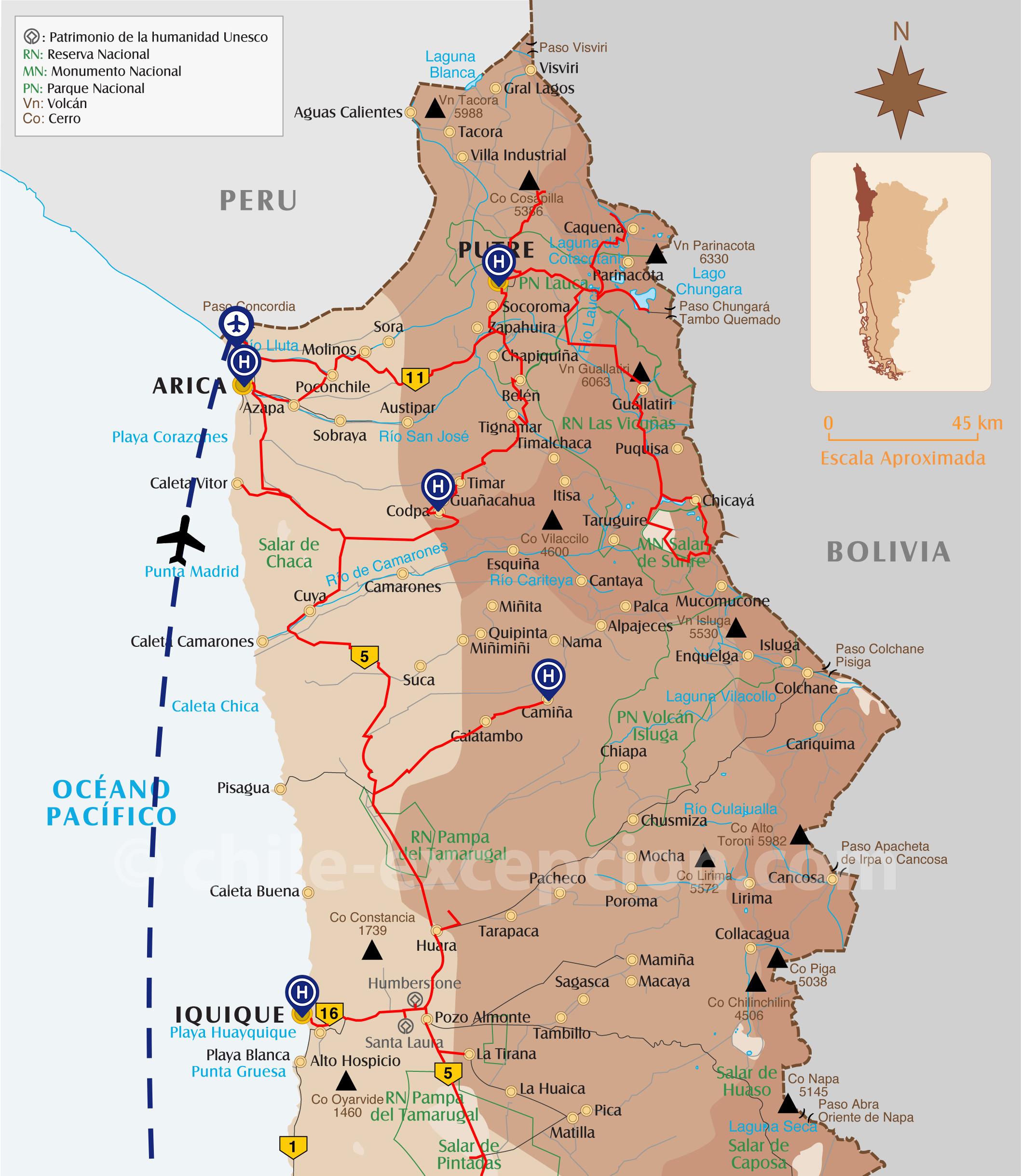 Trajet Extrême Nord Chili circuit 19