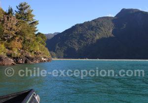 Passage du lac Tagua Tagua au rio Puelo vers l'amont