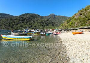 Village de pêche, Chili