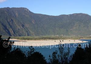 Rive de la rivière Puelo amont