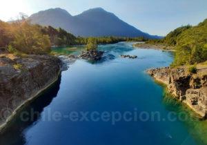 Rio Puelo, vallée de Puelo, Chili