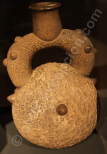 Bouteille végétal, Chavin 1000 - 400 av.J.-C.