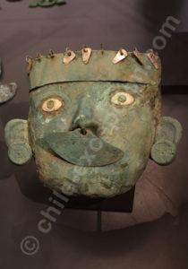Masque en cuivre, culture Moche 1 - 700 apr.J.-C.