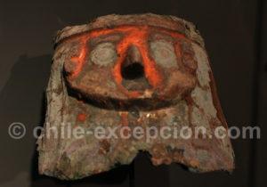 Masque en cuivre et argent, culture Chimu 1200 - 1470 apr.J.-C.