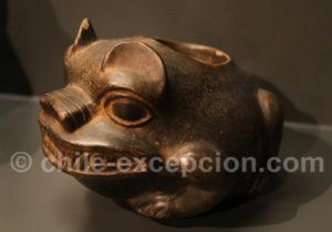 Récipient en céramique, culture Chavin 1000 - 400 av.J.-C.