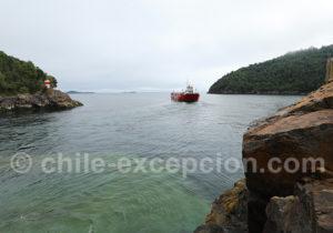 Départ du ferry toutes les 30 mn à Caleta Puelche