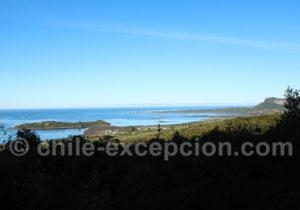 Vue sur la baie de Hualaihué, depuis la Route Australe