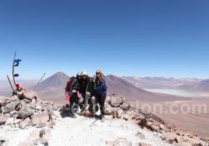 Equipe de Chile Excepcion au sommet du volcan Toco