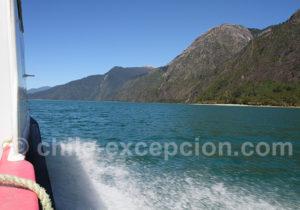 Traversée du lac Tagua Tagua en ferry