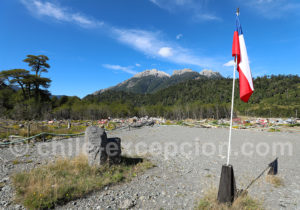 Memorium à Villa Santa Lucía, Patagonie