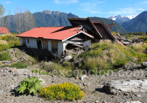 Photo prise à Villa Santa Lucía en mars 2021 trois ans après l'avalanche
