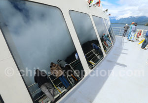 Traversée du fjord Cholgo en bac
