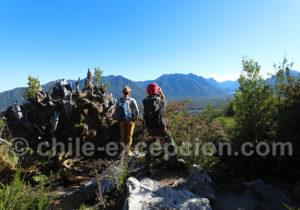 Trekking avec guide privé volcan Chaitén