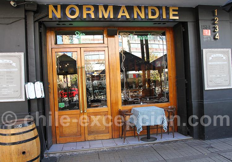 Restaurant Bar Normandie, quartier de Providencia