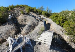 Arrivée sur la caldeira du volcan Chaiten
