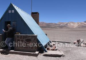 Cabanon au col de San Francisco, frontière Chili Argentine