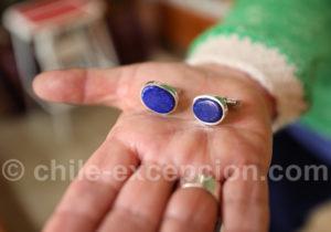 Boutons de manchette en Lapis Lazuli