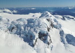Vol scénique depuis O'Higgings au-dessus du champ de glace patagonique