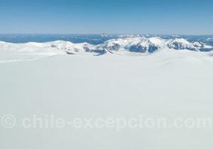 Grand champ de glace entre Chili et Argentine