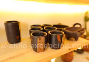 Service à café en terre cuite, artisanat du Chili