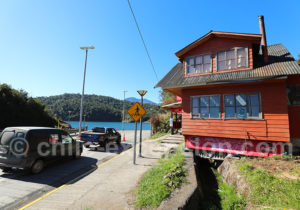 File d'attente du ferry à Caleta Puelche