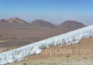 Pénitents de neige, cerro Toco