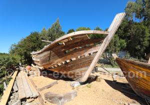 Atelier de construction de bateaux, ria Quildaco