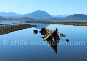 Marée basse à Hualaihué