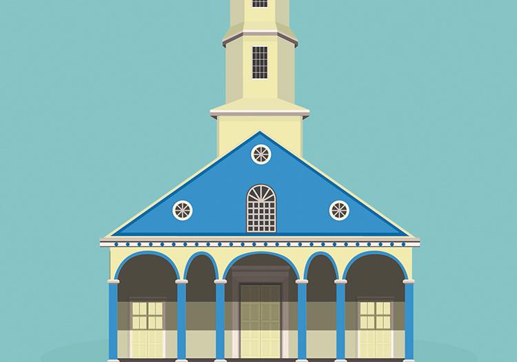 Dessins des 16 églises classées de Chiloé